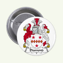 Diamond Family Crest Button