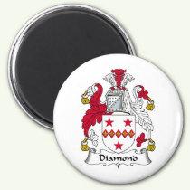 Diamond Family Crest Magnet