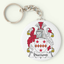 Diamond Family Crest Keychain