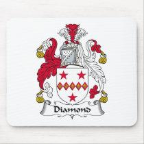 Diamond Family Crest Mousepad
