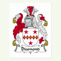 Diamond Family Crest Postcard