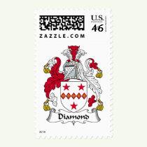 Diamond Family Crest Stamps