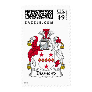 Diamond Family Crest Postage Stamps