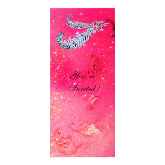 DIAMOND FEATHERS pink sparkles Invitation