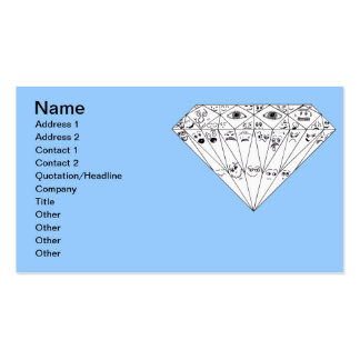 Diamond Feelings, Many Facets Double-Sided Standard Business Cards (Pack Of 100)