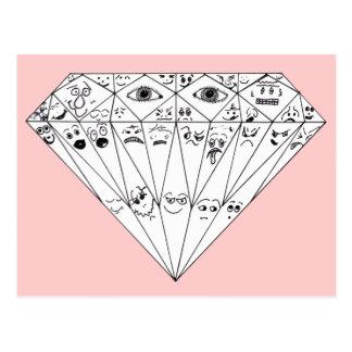 Diamond Feelings, Many Facets Postcard