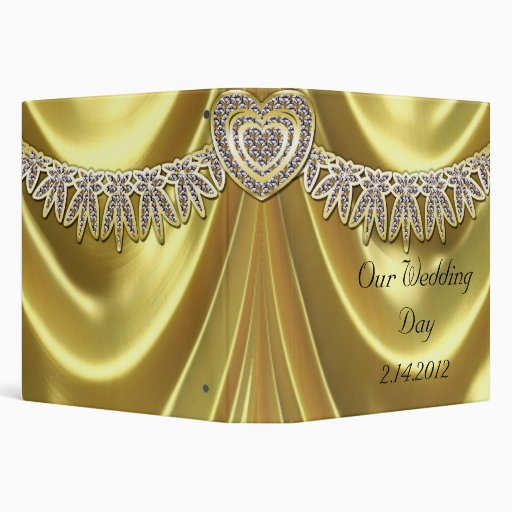 Diamond Fleurette & Satin Gold Binders
