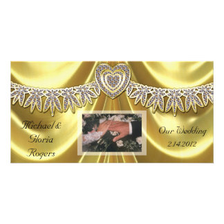 Diamond Fleurette & Satin Gold Card
