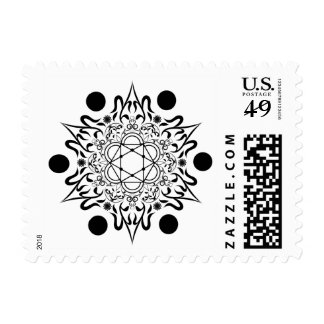 Diamond Floral Abstract Snowflake Pattern Stamp