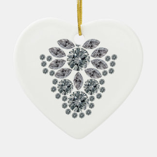 Diamond Floral Pendant Ceramic Ornament