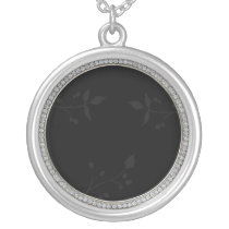 diamond frame  Photo Silver Plated Necklace