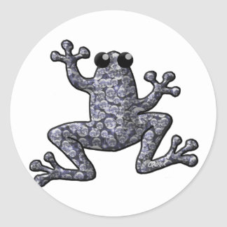 Diamond Frog Classic Round Sticker