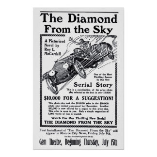 Diamond From The Sky 1915 vintage movie ad poster