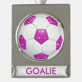 Diamond Gemstones Soccer GOALIE Ornament