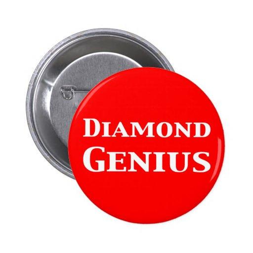 Diamond Genius Gifts Pinback Buttons