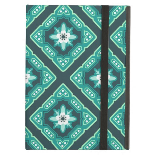 Diamond Geometric Floral Case For iPad Air
