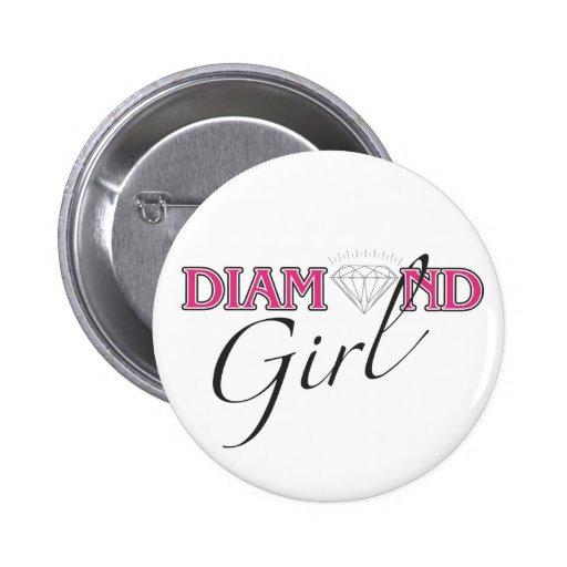 Diamond Girl Button