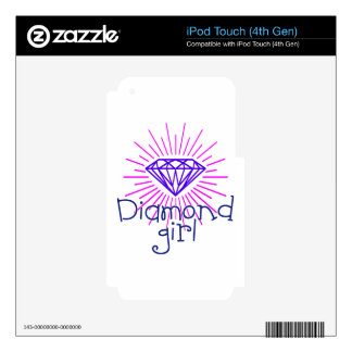 diamond girl, gem shining iPod touch 4G decal