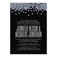 Diamond Glitter Typography Wedding Invitation
