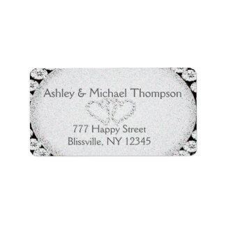 Diamond Glitter | Wedding Label Address Label