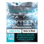 Diamond Glow Sweet Sixteen VIP Pass Invite [Teal]