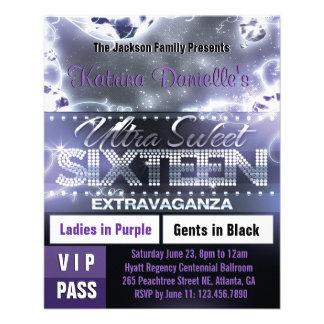 Diamond Glow Sweet Sixteen VIP Pass [Purple] Flyer