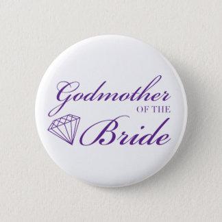 Diamond Godmother of Bride Purple Pinback Button