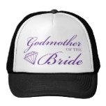 Diamond Godmother of Bride Purple Trucker Hat