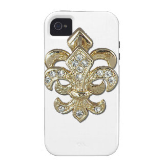 Diamond gold Fleur De Lis New Orleans Case-Mate iPhone 4 Case