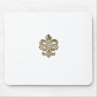 Diamond gold Fleur De Lis New Orleans Mouse Pad