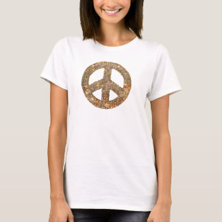 Diamond & Gold Peace Sign T-Shirt