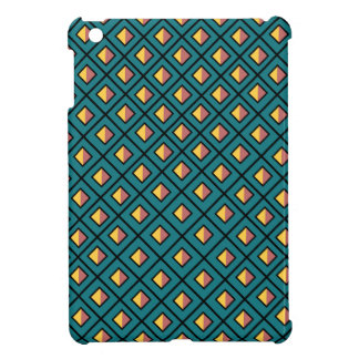 Diamond Green and Yellow Pattern Texture iPad Mini Cover