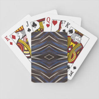 Diamond guinea fowl feather design playing cards