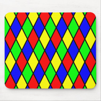 Diamond Harlequin Design Mouse Pad