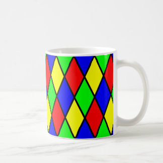 Diamond Harlequin Design Coffee Mug