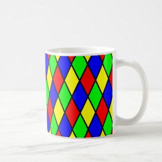 Diamond Harlequin Design Mugs