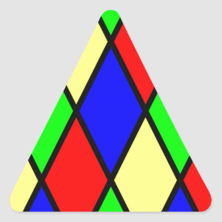 Diamond Harlequin Design Triangle Sticker