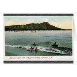 Diamond Head And Surf Board Riding Honcluta J.K., Card