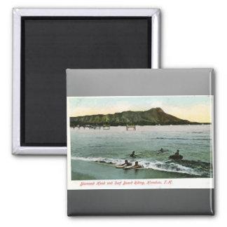 Diamond Head And Surf Board Riding Honcluta J.K., Magnets