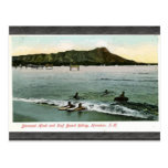 Diamond Head And Surf Board Riding Honcluta J.K., Post Cards