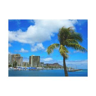 Diamond Head and Waikiki, Hawaii Canvas Print