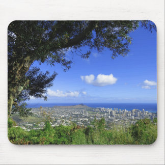 Diamond Head and Waikiki Mouse Pad