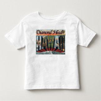 Diamond Head, Hawaii - Large Letter Scenes T Shirt