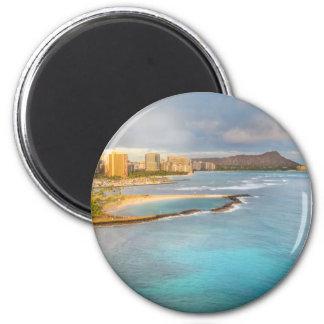Diamond Head, Honolulu 2 Inch Round Magnet