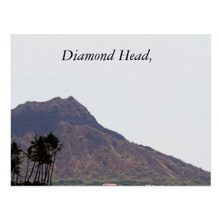 Diamond Head, photography, Hawaii, Post Card