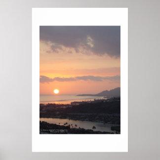 Diamond Head Sunset Poster