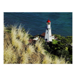 Diamond Head top view of Light House 3 Poster
