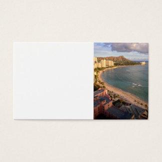 Diamond Head, Waikiki Beach, Hawaii Business Card