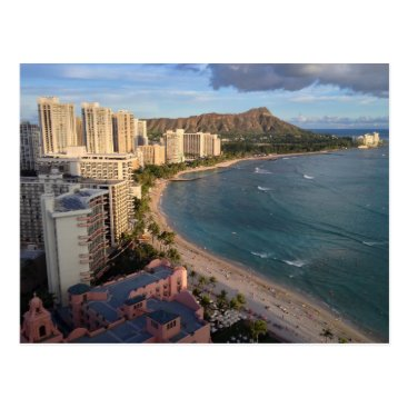 joeyartist Diamond Head, Waikiki Beach, Hawaii Postcard
