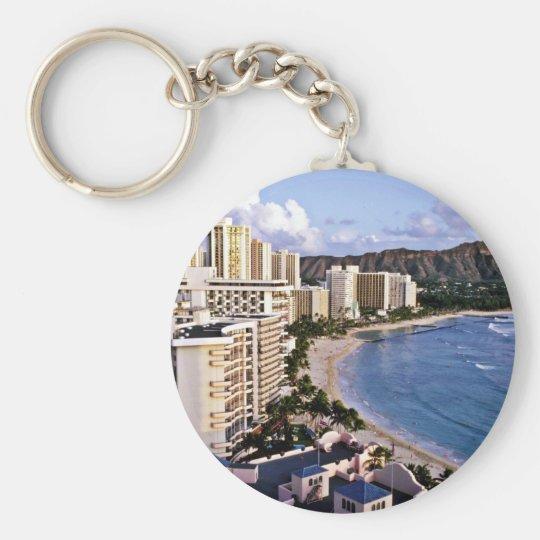 Diamond Head - Waikiki Beach, Oahu Keychain